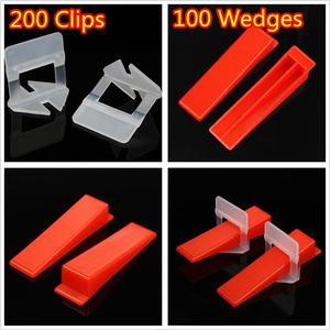 Image 4 - 300pcs פלסטיק קרמיקה פילוס מערכת 200 קליפים + 100 טריזי ריצוף ריצוף כלים טריזי קליפים