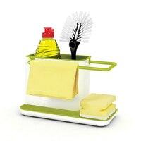 Die Neue auflistung multi funktion kunststoff rack bad küche lagerung schwamm scheuer reinigung werkzeug entwässerung platzierung Organisation-in Halter & Gestelle aus Heim und Garten bei