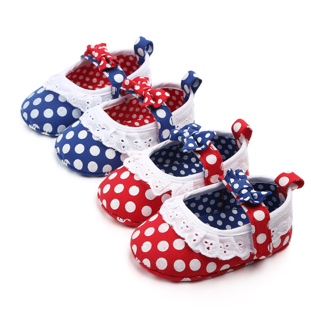 Polka Dot Bow Baby Shoes Indoor Soft Bottom Toddler Shoes Princess Baby Shoes Baby Infant Shoes