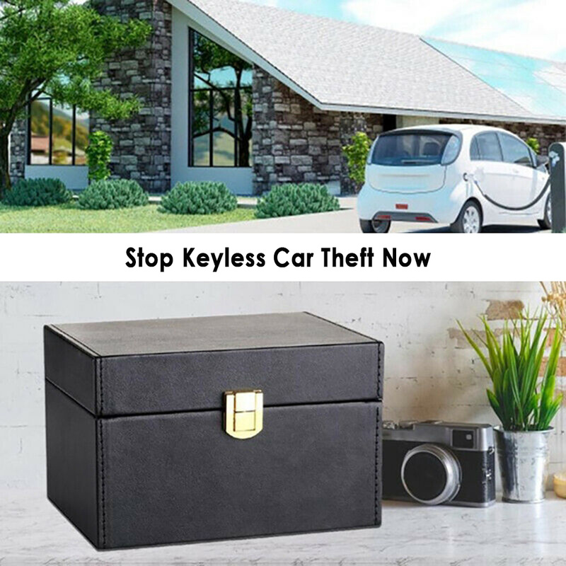Key Fob Protector Keyless Car Key Signal Blocker Box Faraday Box Radiation-proof Mobile Phone Box Bank Card Hide A Key