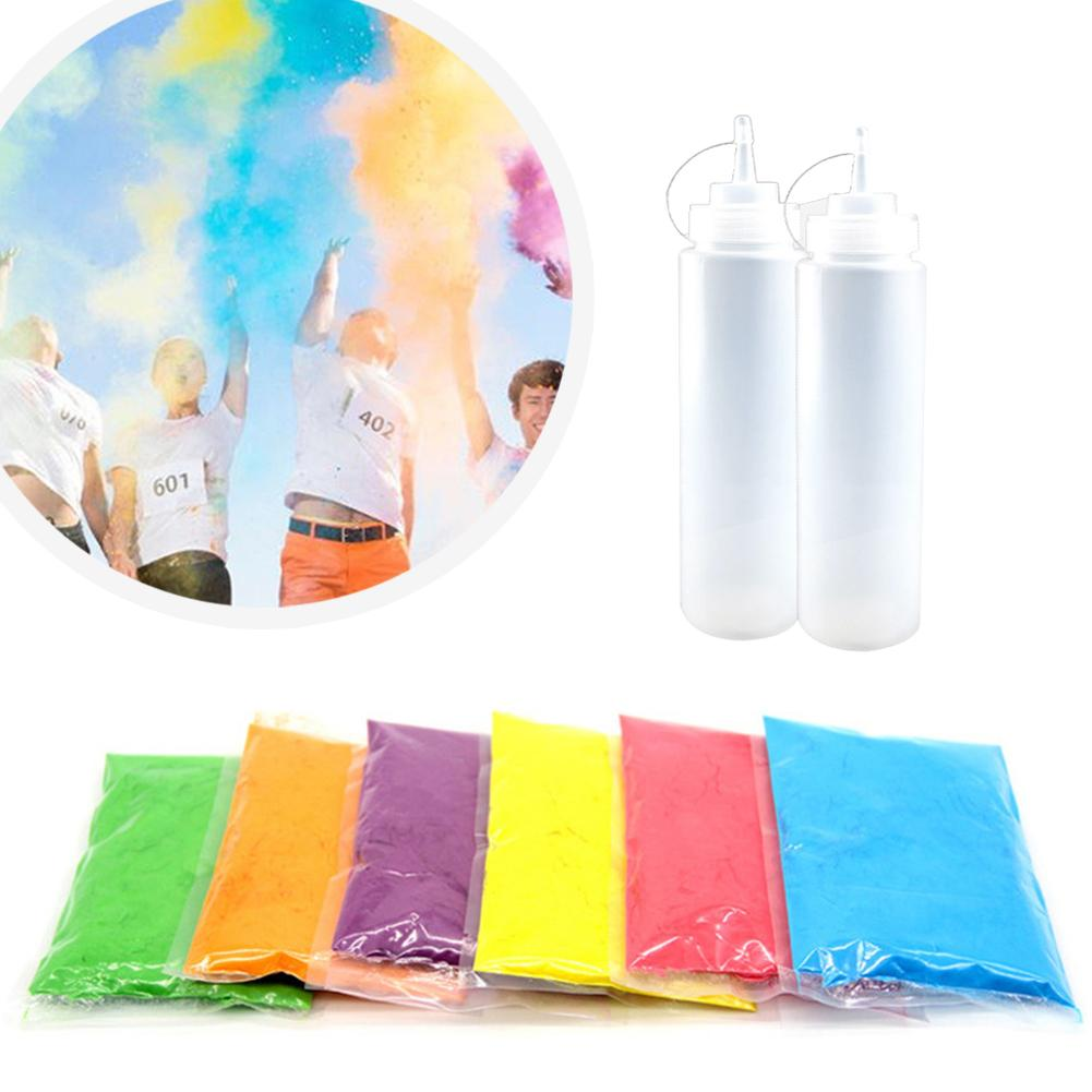 100g Festival Supplies Color Powder Spray Bottled Colored <font><b>Corn</b></font> Powder <font><b>Rainbow</b></font> Watering Can Party <font><b>Rainbow</b></font> Decorative <font><b>Toys</b></font> image