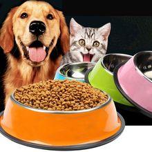Многоцветные домашние питомцы; собаки; кошки, щенок, противоскользящие, из нержавеющей стали для кормления, вода, небьющаяся, жаростойкая миска