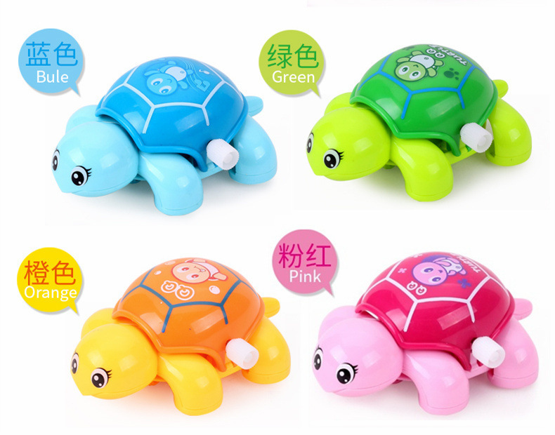 Spring-Winding Toy Infant Baby Spring Little Turtle Educational Cartoon Animal QQ Stall Hot Selling Toy