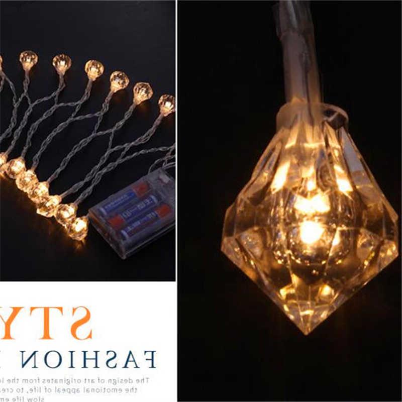 بطارية تعمل 10led 20led 40led 1.2 متر 2.5 متر 5 متر عطلة عيد الميلاد السنة الجديدة لتقوم بها بنفسك LED مصباح حديقة أضواء المنزل خيط مزخرف