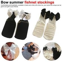 Women Socks Bow Ruffle Fishnet Ankle High Socks Mesh Lace Fish Net Summer Short Socks meia feminina funny socks bow decorated net socks 3pairs