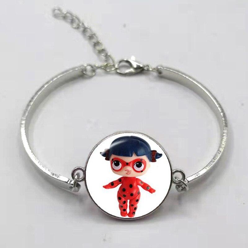 Мультфильм LOL браслет для куклы милый ребенок флэш Кукольное платье принцессы стеклянная кнопка, купол тканый кожаный браслет подарок на день рождения