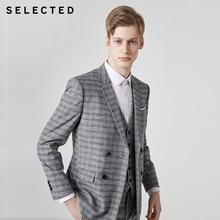 Мужской классический приталенный Блейзер в полоску с застежкой на воротнике одежда T | 41925X504