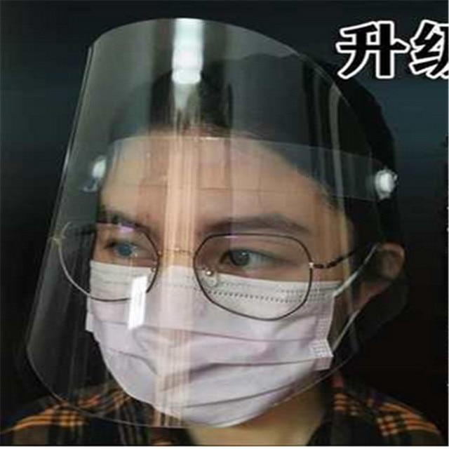 Transparent Adjustable Full Face Shield Plastic anti-epidemic anti-fog safety Mask Flip-up Visor Medical Work Guard
