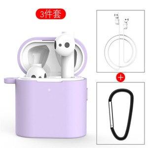 Image 4 - 3 in 1 Silikon Fall Für Xiaomi Airdots 2 2s Wireless Bluetooth Headset Schutzhülle Für Xiaomi Air 2 2s Headset Abdeckung