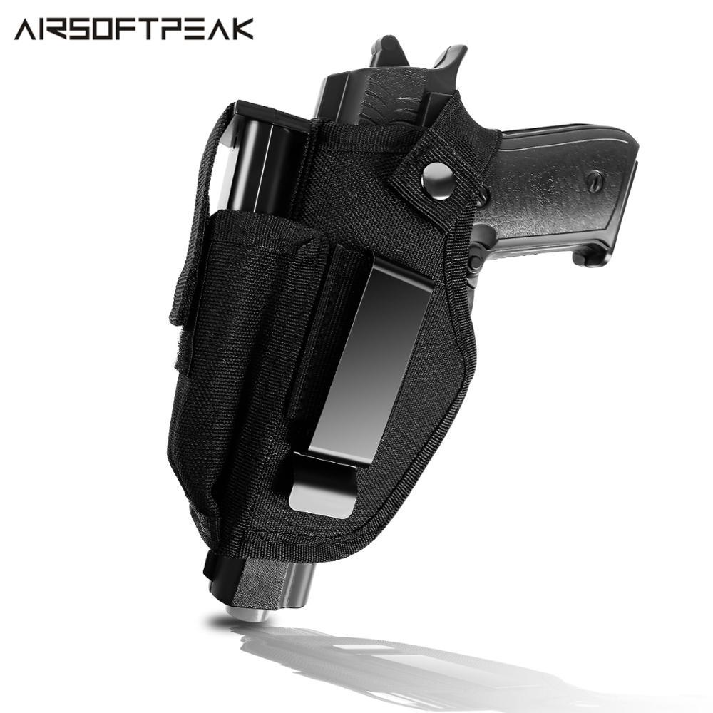Escondido pistola coldre para a direita esquerda mão desenhar iwb owb cós arma coldre com compartimento para todas as armas de fogo