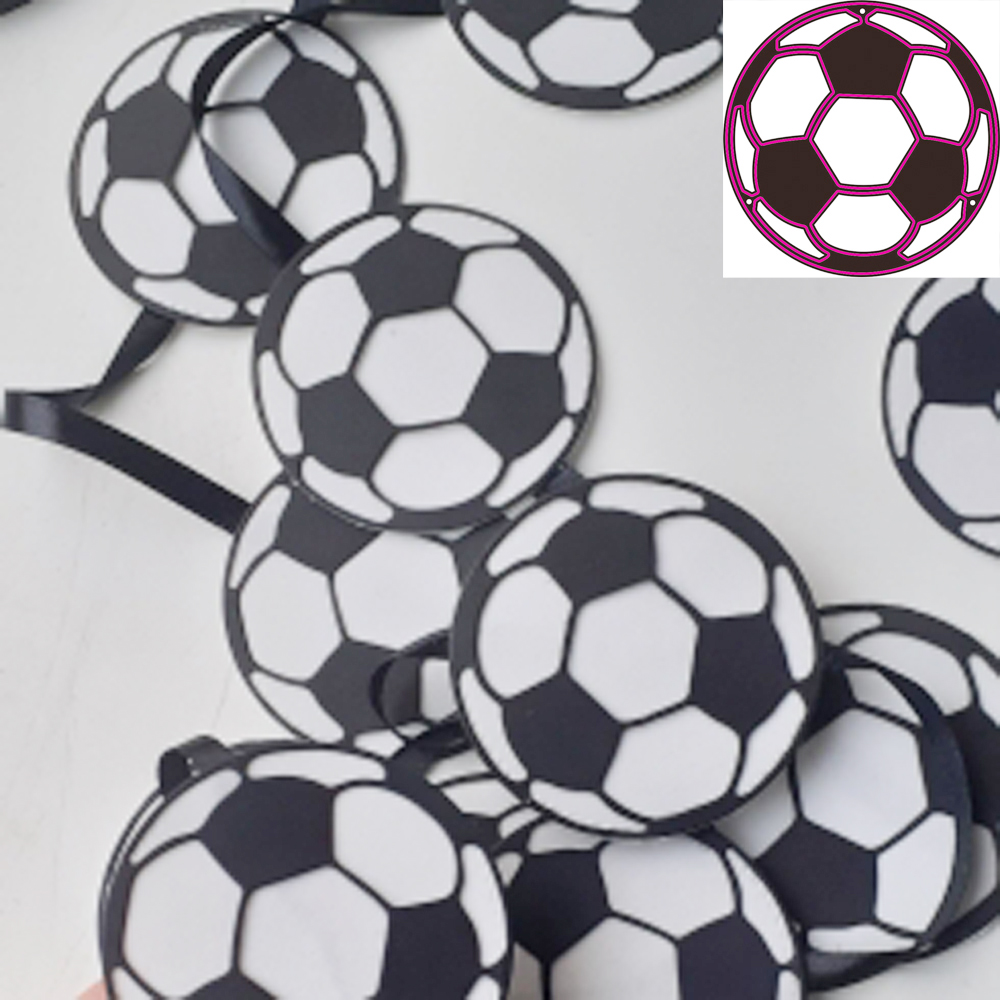Football Cutting Dies Birthday Party Metal Cutting Dies Stencils For DIY Scrapbooking Album Stamp Paper Card Embossing Mold