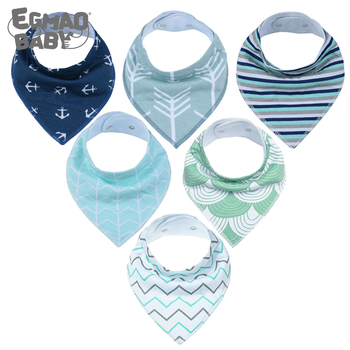 New Style Baby Bandana Drool Bibs Unisex 6 Pack Cotton Super Absorbent Bibs for Drooling & Teething Perfect Baby Shower Gift Set premium baby bandana bibs extra soft natural cotton baby drool bib for drooling and teething super absorbent baby shower gift