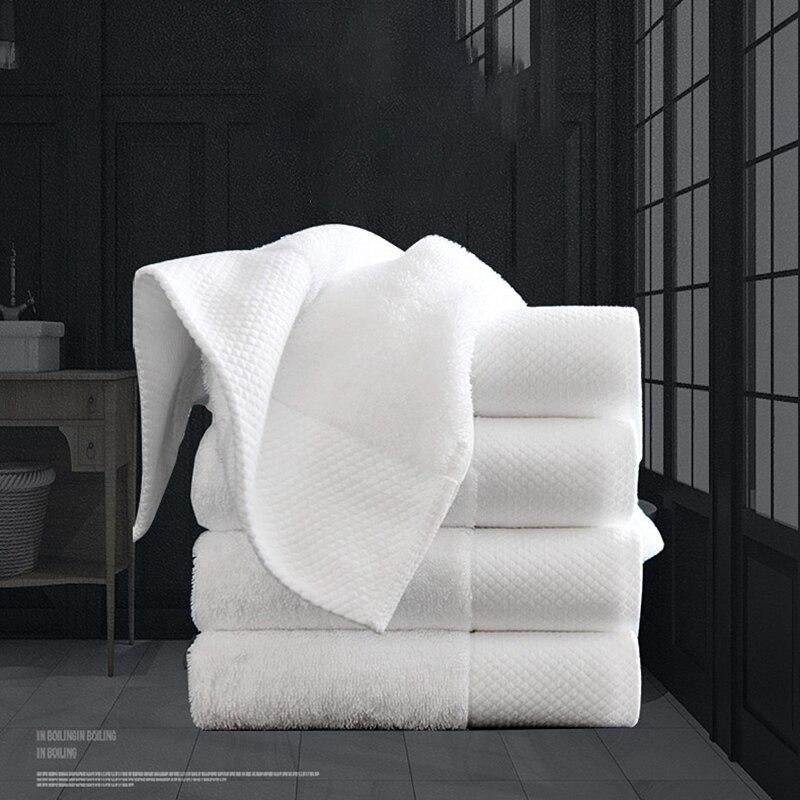 10-Pack белое Роскошное хлопковое полотенце отель спа моющее полотенце