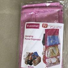 Двойная сторона 6 слоев, складная сумка для хранения, органайзер Сумки из натуральной кожи кошелек хранилище сумка для мелочей аккуратные Организатор Шкаф Вешалка