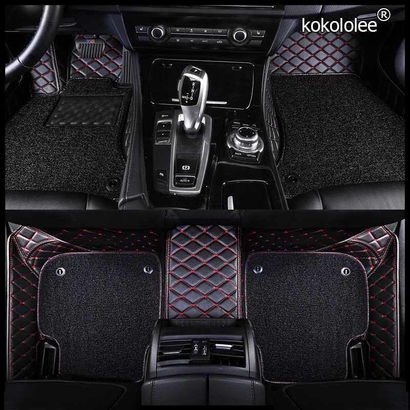 Kokololeeカスタム車のフロアマットテスラすべてモデルモデルsモデルxカースタイリングアクセサリー自動車足カバーパッド
