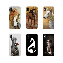 Aksesoris Ponsel Shell Penutup untuk Apple iPhone X XR XS 11Pro Max S 5 4S 5 5C Se 6S 7 8 PLUS IPod Touch 5 6 Galgo Anjing Greyhound(China)