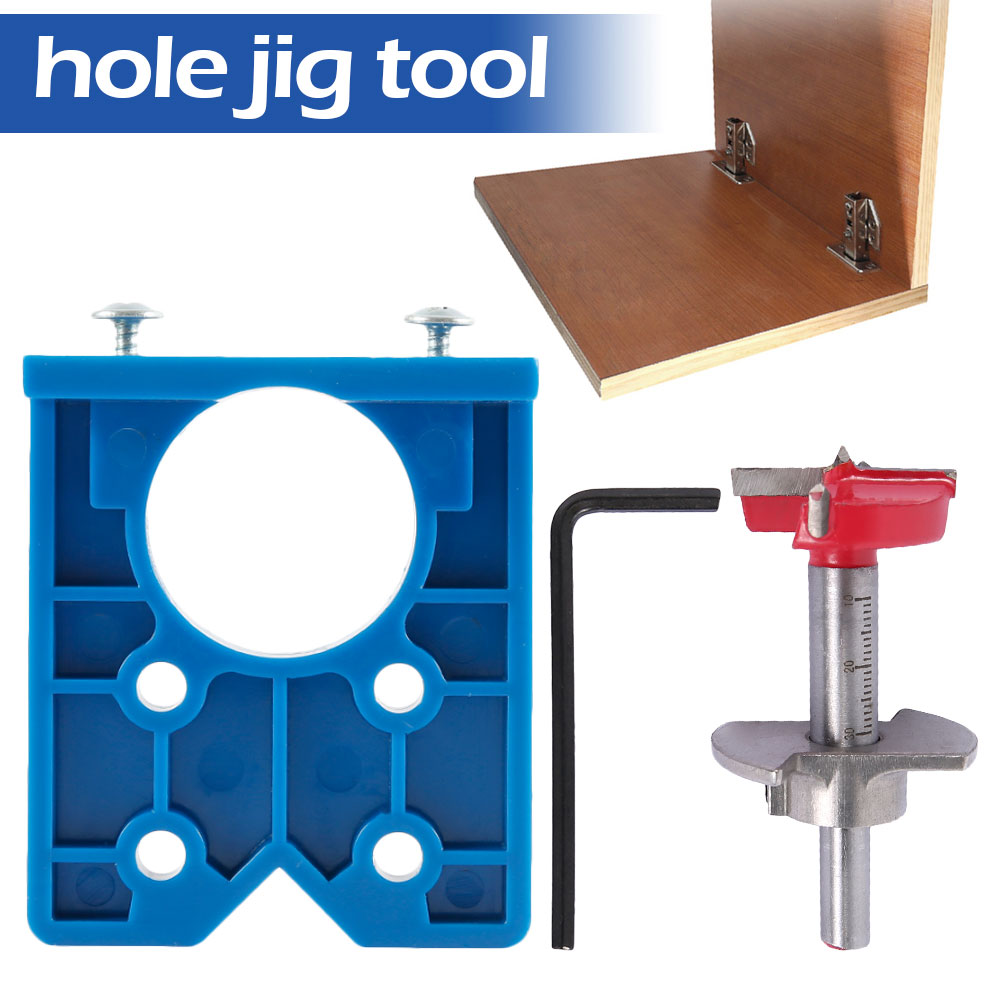 Dowel Jig 35mm ABS Plastic Hinge Jig Hole Saw For Wood Drill Furniture Hinge Installation