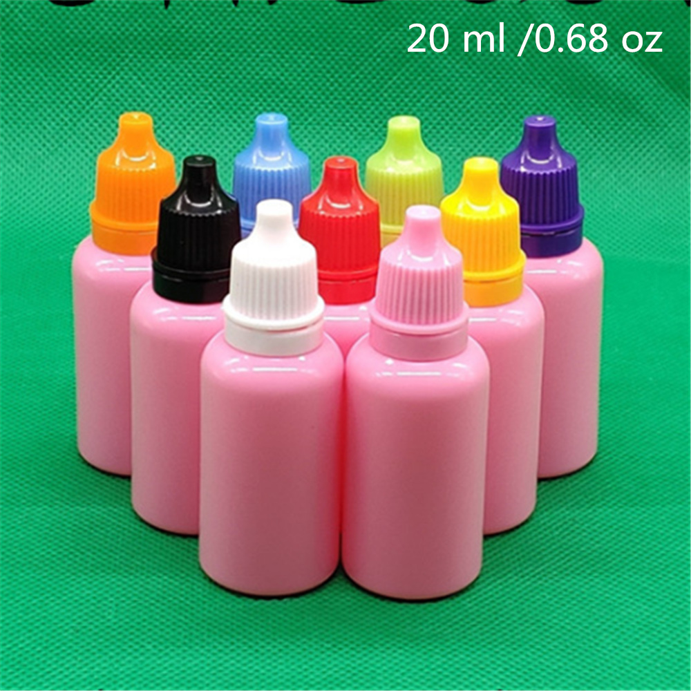 50 Pcs 20ml Empty Pink Plastic Bottles Liquid Packaging Container Free Shipping Eye Drops PE Bottle