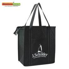 Bleschome 100 개/몫 사용자 지정 에코 친화적 인 대형 절연 쿨러 가방 자동차 여행을위한 재사용 가능한 점심 가방
