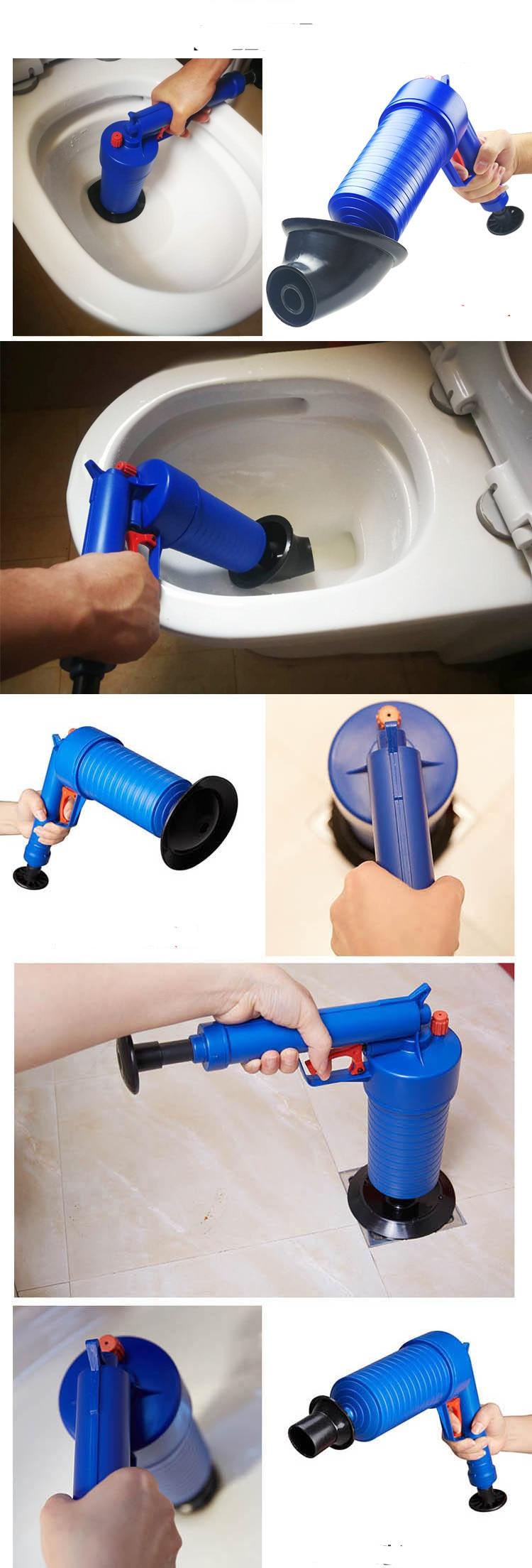 H58d3455e1c814680b2e691b2278f4408w - Bathroom High Pressure Air Drain Blaster Gun Powerful Toilet Sewer Dredge Plunger Auger Cleaner Powerful Plumbing Tools