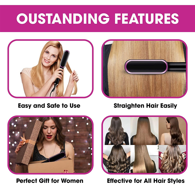 Профессиональный Выпрямитель для волос, керамическая плойка с турмалином, расческа для волос, утюжок для завивки волос, инструмент для укладки 5