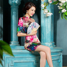 Женская юбка Чонсам в китайском стиле, приталенная шелковая юбка средней длины, оптовая продажа, 2019