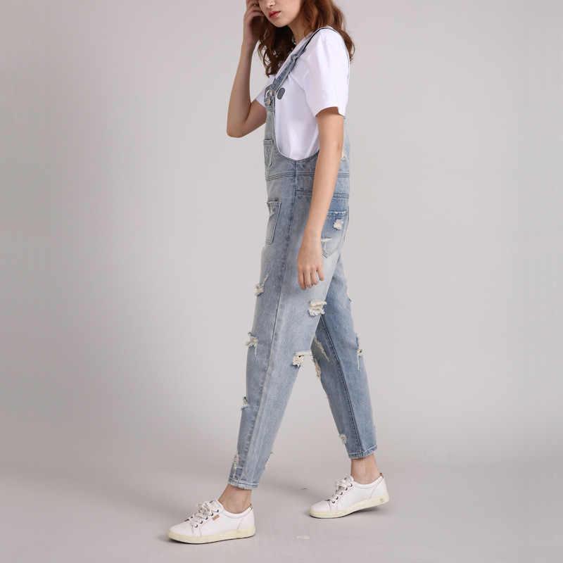 Плюс размер комбинезона женский джинсовый комбинезон рваные джинсы комбинезон женский s комбинезон рваные джинсы на подтяжках комбинезоны