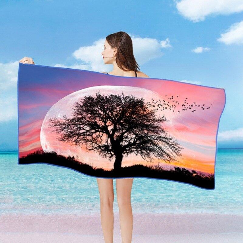 Летние пляжные Полотенца поглотитель из микроволокна с печатным принтом Полотенца s сохнущая мочалка домашний текстиль салфетку Toalla playa