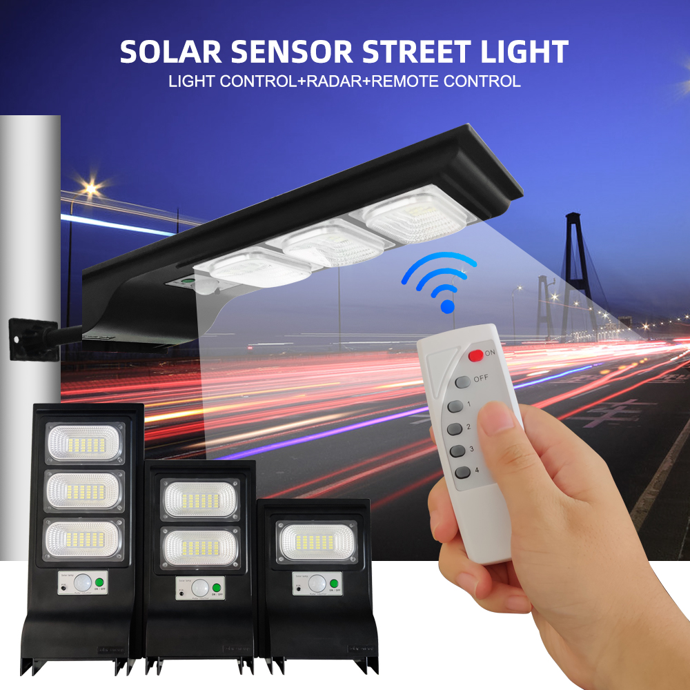 60W Solar LED Street Lights 40W Outdoor Garden Wall Lamp IP65 PIR Motion Sensor 20W Path Light Remote Controller 3 Working Modes