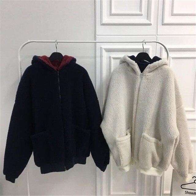 Ins корейский стиль простое однотонное лоскутное пальто для
