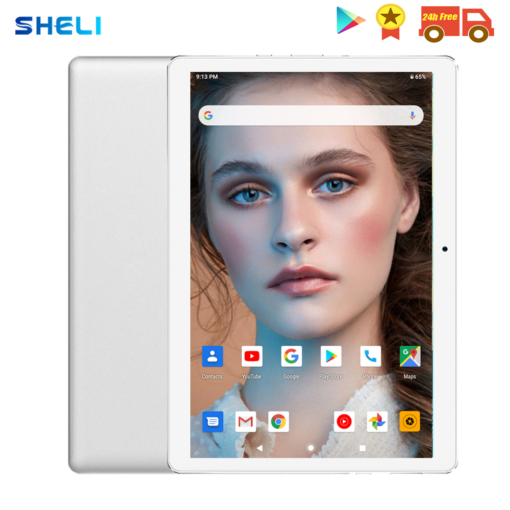 2020 Global Version 10 Inch Tablet Quad Core 2GB RAM 32GB ROM 3G WIFI 1280*800 IPS Dual SIM Card Wifi GPS Android 9.0 Tablet