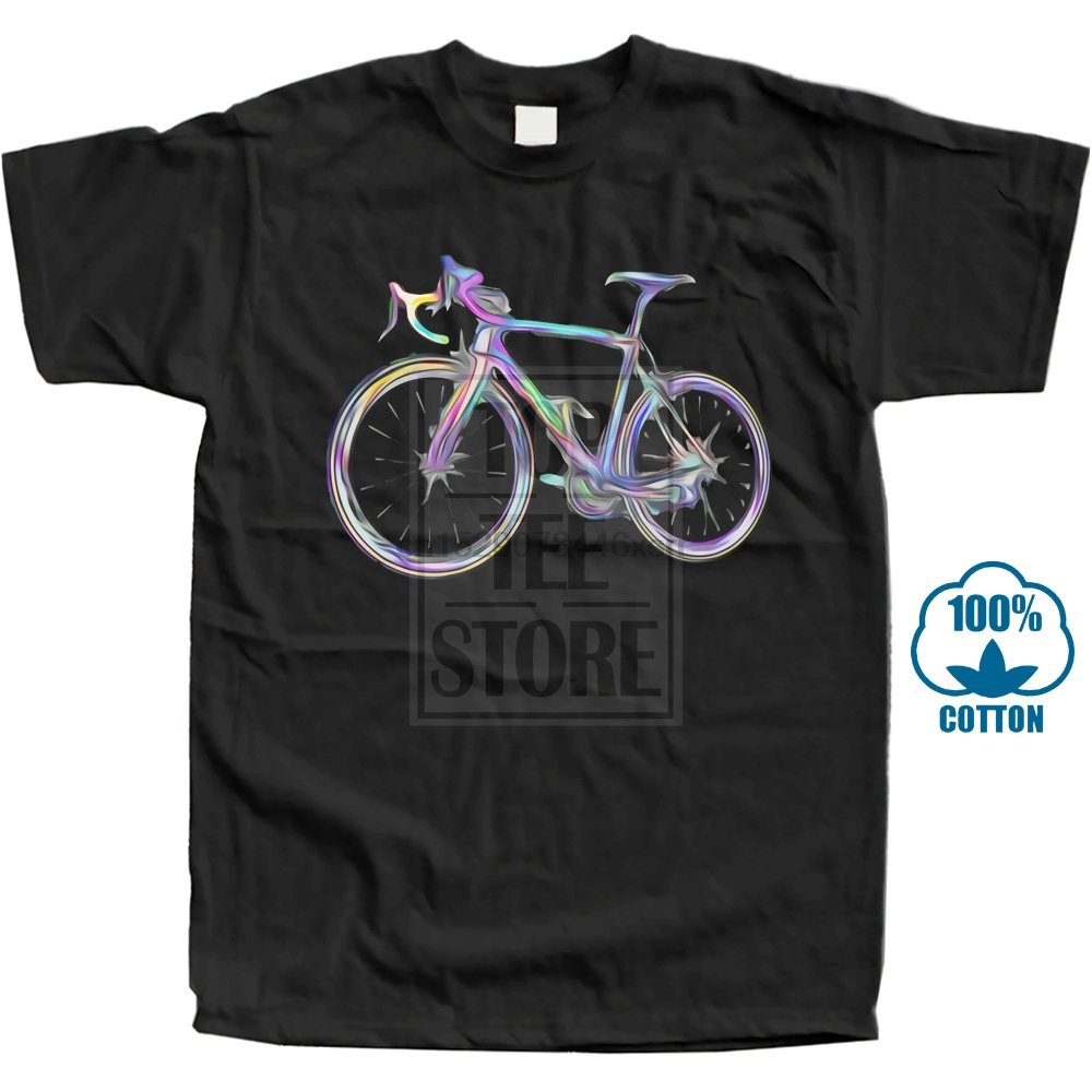 O-Neck Tshirts Thanksgiving Day Bicycle Of Colors Simple Style Tops Shirt Short Sleeve New Fashion 100% Cotton Top T-Shirts Men