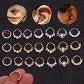 Chissen 1 шт. CZ серьги-кольца для носа Перегородка кольцо в форме сердца Daith пирсинг для пупка хрящевая спираль серьги для тела прокол ювелирные ...
