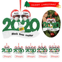Christmas Birthdays Party Decoration Gift Product Personalized Quarantine 2020 Xmas Hanging Ornament Pandemic -Social Distancing
