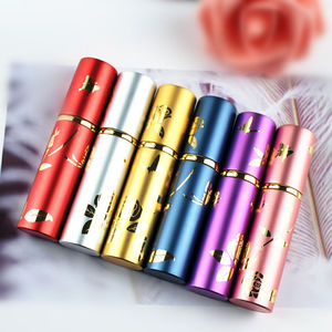 Image 4 - 1PC Top Quality Luxury 10ml Metal Perfume Bottle Aluminium Refillable Atomizer Portable Glass Spray Bottle Empty