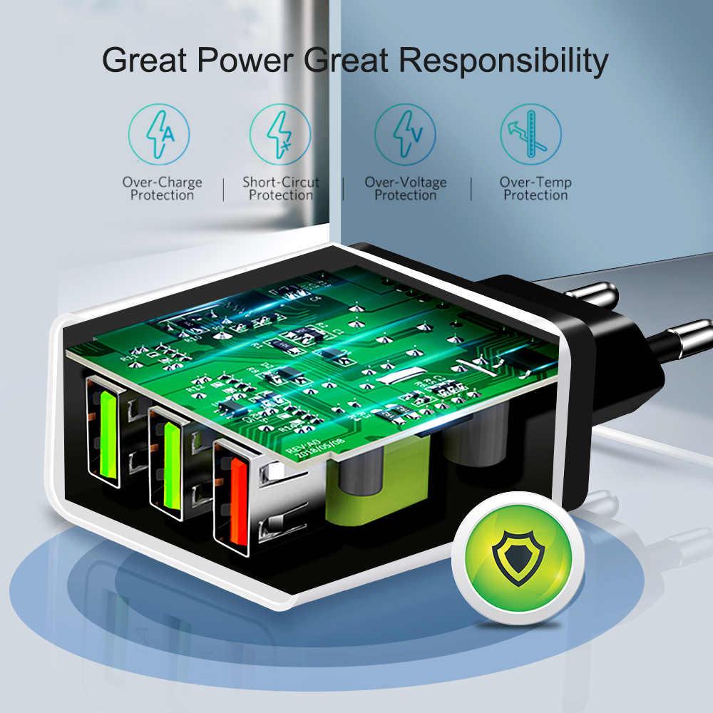 Chargeur rapide Marjay 3.0 USB 30W QC3.0 QC Turbo chargeur de téléphone portable multi-prise de Charge rapide pour iPhone Samsung Xiaomi