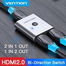 Vention – commutateur HDMI bidirectionnel 2.0 4K, adaptateur 1x2/2x1, 2 en 1, convertisseur de sortie pour PS4, Xiaomi TV Box, séparateur HDMI