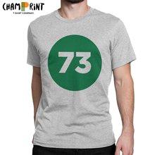 El número perfecto es 73 camiseta hombres teoría del Big Bang Sheldon ocio Algodón puro Camiseta cuello en O camisetas de manga corta ropa