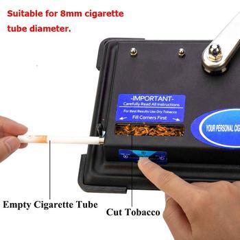 8mm ręczna maszyna do zwijania papierosów maszyna do wtrysku papierosów ręczna obsługa rolki do tytoniu tanie i dobre opinie STAINLESS STEEL Lakier 3 Standard size(100 King Regular) 9 8 x 7 1 x 3 9 inches