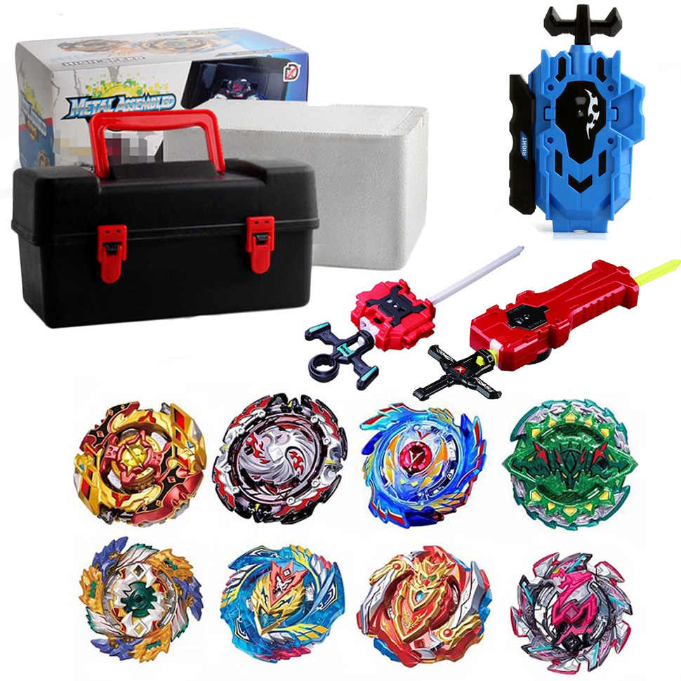 Набор топов пусковых устройств Beyblade Toupie Metal God Burst spinning top Bey Blade Blades Toy bay blade bables