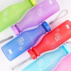 Image 4 - Candy Farben Wasser Flasche Unzerbrechlich Frosted Kunststoff wasserkocher Kostenloser Tragbare Wasser Flasche für Reise Yoga Lauf Camping