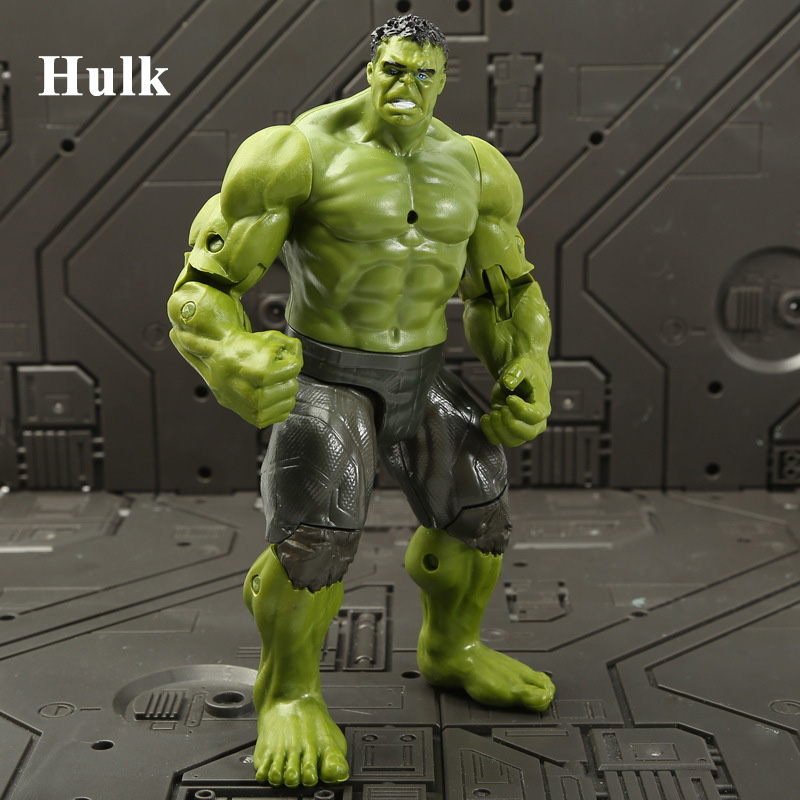 18cm Hulk Action Figures Marvel Avenger Super Heroes Captain America Thor Spiderman Iron Man Doll Kids Christmas Gifts Toys