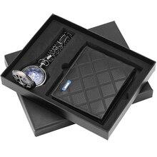 Мода новое прибытие карманные часы бумажник подарочный набор ретро механические часы практичные Мужские подарки для мужа, папы