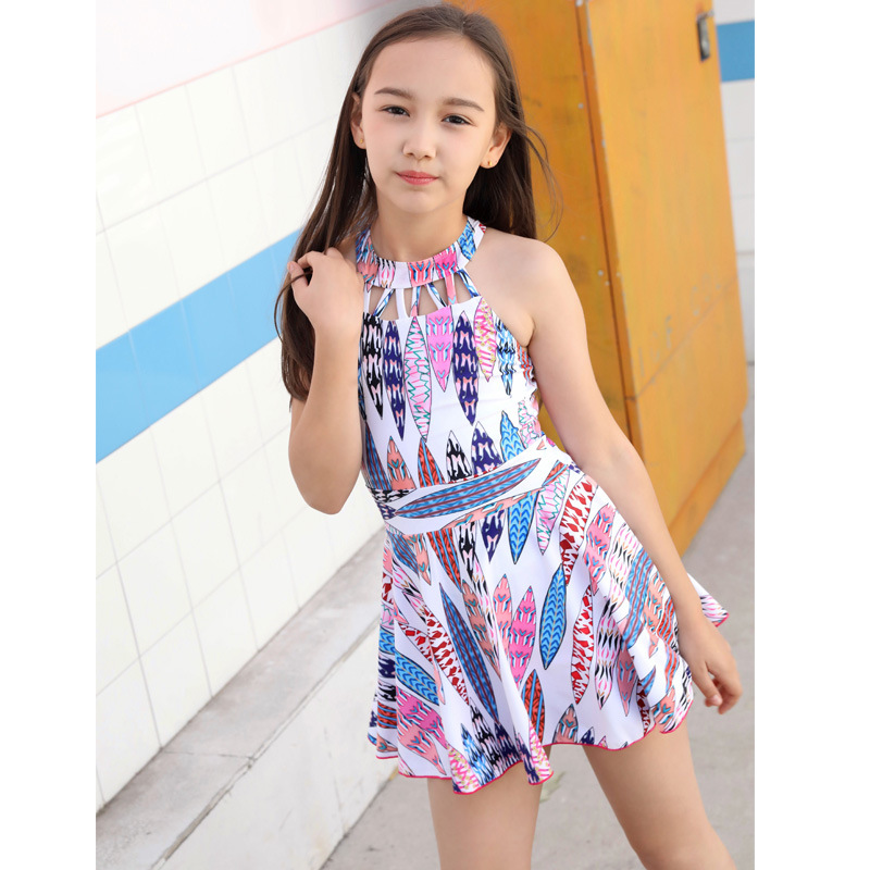 Girls' Two-piece Swimsuit Students Princess Dress-Swimwear Boxer Hot Springs Seaside Children Baby CHILDREN'S Swimwear