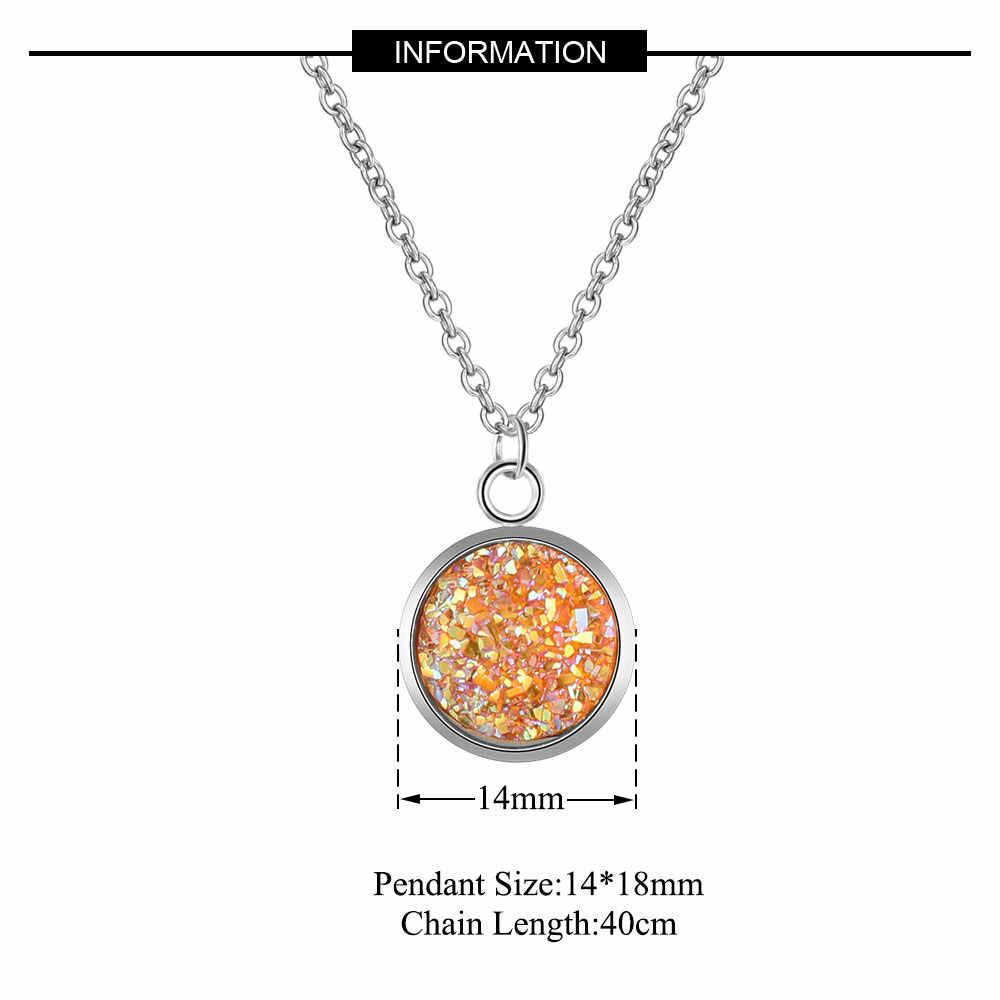 Aaaaa jakość 100% stal nierdzewna Shinning żywica naszyjnik charms dla kobiet wysoki połysk nigdy nie niszczą biżuteria naszyjnik