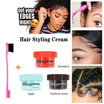 Professional Hair Oil Wax Cream Strong style Edge Control Hair Styling Cream Broken Hair Finishing Anti-Frizz Hair Fixative Gel
