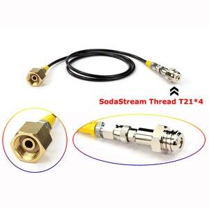 Image 2 - Mới Soda Dòng SodaStream/Soda Câu Lạc Bộ Bên Ngoài Co2 Xe Tăng Adapter Và Vòi Bộ W21.8 14 Hay CGA320 W/nhanh Chóng Ngắt Kết Nối