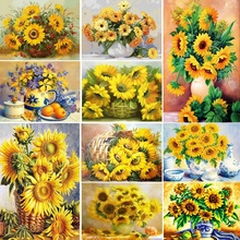 Sunflower Diamont Painting Flower Diamond Art Mosaic Cross Stitch Diamond Painting Full Drill Round sunflower diamond paiting flower diamond painting full cross stitch diamond painting full drill round