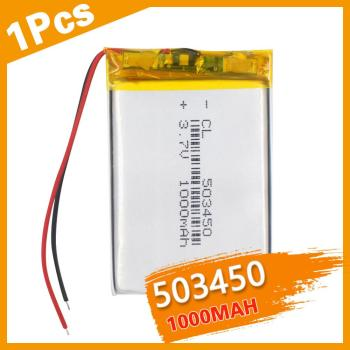 1PCS 543450 3.7V 1100 mAh Polymer Lithium Rechargeable Battery Li-ion Battery 503450 523450 for Smart Phone DVD MP3 MP4 image