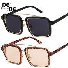 Square Sunglasses Women Brand Designer Clear Lenses Sun Glasses Female Three Colors Big Frame Party Eye
